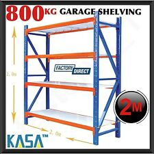 Steel Shelving Garage Warehouse Metal Storage Shelf Heavy Duty Racks 800kg Kasa