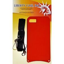 iPhone 4 4s RED case with Adjustable Detachable Safety Lanyard