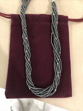 """$1,000 NWT LAGOS Caviar Icon Hematite Necklace 17"""" 18K Gold Sold Out!"""
