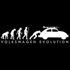 VW VOLKSWAGEN T SHIRT - Evolution BUG - VW TEE SHIRT AND FREE WINDOW DECAL