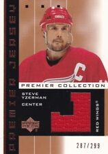 UD Premier Collection 2002/03 Jersey Card Steve Yzerman