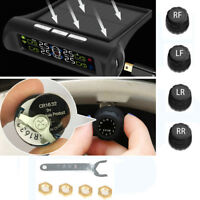 UK Solar Wireless Car Tire Pressure Monitor System TPMS and 4 External Sensors