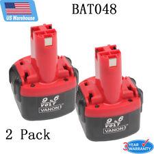 2Pack 2.0Ah 9.6VOLT Rechargeable Battery for Bosch BAT048 PSR PAG 960 260700 USA