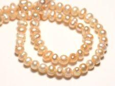 10pc - Perles Culture Eau Douce Boules 4-6mm Rose clair Pastel irisé - 874114002