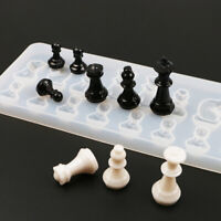 International Chess Shape Silicone Mold DIY Clay Epoxy Resin Mold Pendant Mold