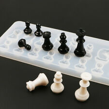 International Chess Shape Silicone Mold DIY Clay Epoxy Resin Mold Pendant Molds