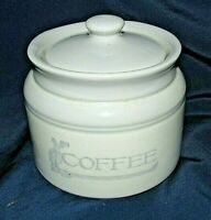 Bendigo Pottery Heritage COFFEE CANISTER Cream Grey Classic Australian Retro MCM
