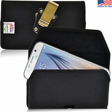 Turtleback Samsung Galaxy S6 Nylon Pouch Holster Metal Clip Fits Spigen Case