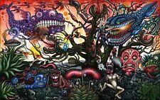 "Psychedelic Trippy Art Silk Cloth Poster 40 x 24"" Decor 04"