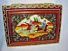 ( #1) ANTIQUE  MARQUETRY PERSIAN  INLAID BOX  WITH LID BY KHATAM HAND CRAFTED