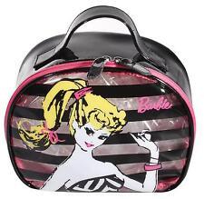 SOHO BARBIE Round TRAIN CASE BAG Cosmetics Travel Weekender NEW With Tag LTD ED
