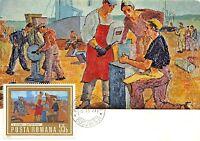 B3021 Maximum card Cartes Maximum Romania Art Henri Catargi  front/back scan
