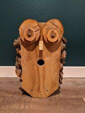 "Decorative wooden ""owl"" birdhouse, homemade, brand new"