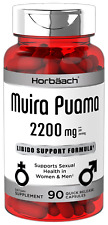 Muira Puama Extract 2200 mg   90 Capsules   Non GMO, Gluten Free   by Horbaach