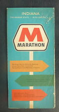 1964 Indiana  road map Marathon  oil gas oil can
