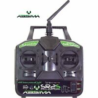 Absima 2000021 SR2S 2.4Ghz 2-Channel TWIN STICK Radio with Receiver for RC Kits
