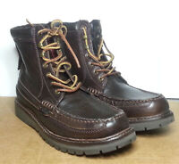 POLO Ralph Lauren Men Size 7 D Brown Genuine Leather Boots Millitary Style