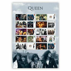 UK 2020 Queen Music Giants Album Cover Collector's Sheet/10 Self-adhesive Stamps