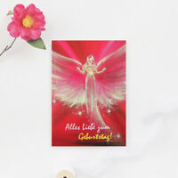 """Grusskarte """"Alles Liebe zum Geburtstag!"""" Postkarte, Künstlerkarte, Glückwünsche"""