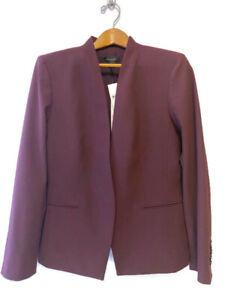 NEW Ann Taylor The Cutaway Blazer Burgundy Size 14 MSRP $179 NWT