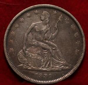1839 Philadelphia Mint Silver Seated Half Dollar No Drapery