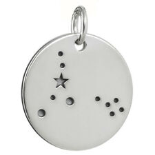 Pisces Charm - 925 Sterling Silver - Stars Pendant Zodiac Constellation NEW
