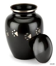 "Jarrow Black 8"" Cremation Ashes Large Pet Urn"