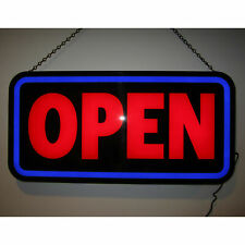 Open Bold Rectangle Led Sign by Neonetics 5OPENB
