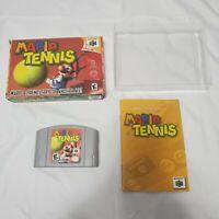 Mario Tennis Nintendo 64 N64 Complete in Box CIB Authentic Tested