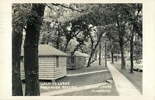A View of the Walk To The Lodge, Fairhaven Resort, Detroit Lakes, MN RPPC 1956