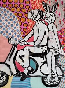 GILLIE AND MARC | Giclée Print | Limited Edition | Pop Art | Vespa Riders