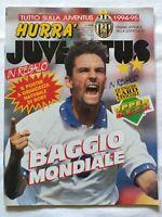 HURRA' JUVENTUS N. 8 - 1994 ROBERTO BAGGIO + CARD UPPER DECK NO POSTER
