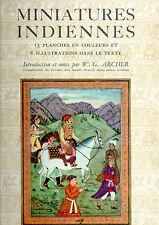 MINIATURES INDIENNES. INTRODUCTION ET NOTES PAR W. G. ARCHER