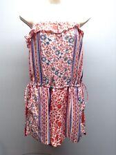 ANGIE~ Anthropologie NEW BOHO Sleeveless Tassel Tie Waist Short Romper L