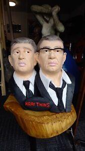 Kray Twins Fiberglass Resin Display Bust Bar / Man Cave