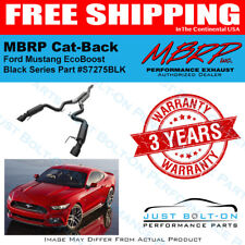 MBRP Black RACE CatBack Exhaust 2015-16-17-18-19 Mustang EcoBoost Coupe S7275BLK