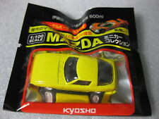 MAZDA SAVANNA RX-7 Early Ver SA22C Yellow Kyosho 1:100 Scale Diecast Model Car .