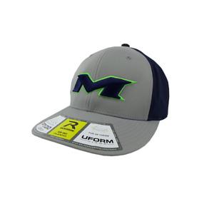 Miken Hat by Richardson (PTS30) Grey/Navy/Grey/Neon Green/Navy