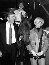 Donald Trump and Andy Warhol Photo Poster Reproduction 13x17 in.