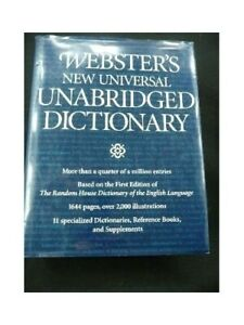 Websters New Universal Unabridged Dictionary Edition: Reprint by B. & W. Book