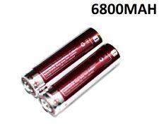 2X PILA RECARGABLE 18650 6800MAH LITIO BATERIA 4,2V LI-ION 6,8A bateria batt