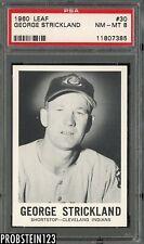 1960 Leaf #30 George Strickland Cleveland Indians PSA 8 NM-MT