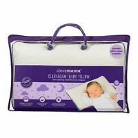 ClevaMama ClevaFoam Baby Pillow for Newborn, Prevent Flat Head Syndrome,