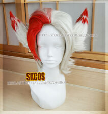 League of Legends LOL Rakan The Rebel Cosplay wig Costume white short
