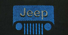 Custom Embroidered Jeep Style Black Flex-Fit Hat Choose Size and Logo Colors