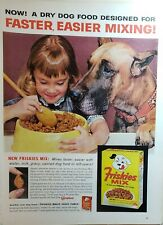 Lot of 4 Vintage Friskies Dog Food Print Ads 101 Dalmatians Faster Easier Mixing