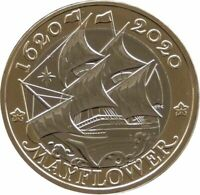 2020 Royal Mint Mayflower 400th Anniversary £2 Two Pound Coin Uncirculated