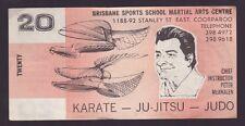 Brisbane Sports School Martial Arts Centre $20 note Karate Judo Ju-Jitsu K-758
