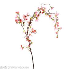Artificiel Cerisier En Fleur Branche Pleurant 110cm/109cm Rose Fleurs Printemps