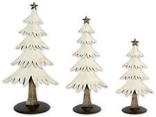 Christmas Snow Tree Table Top Statue - Set of 3